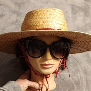 Beautiful vintage straw sun hat